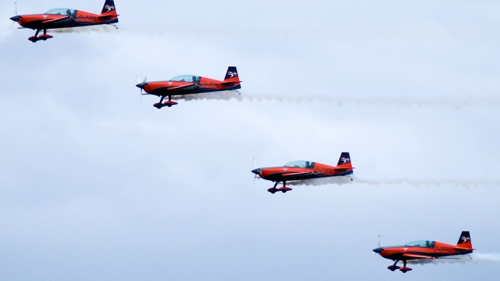 Four Red Planes