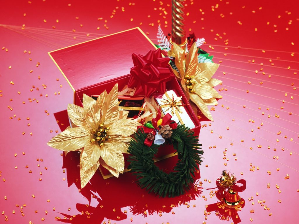 Christmas Gifts And Flowers