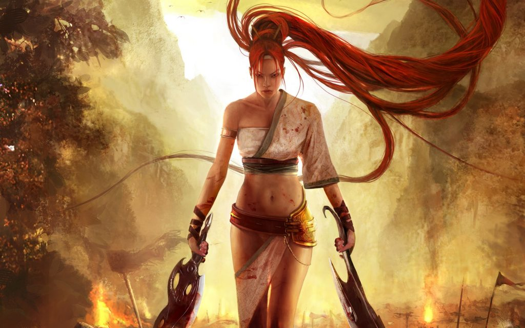 Redhead With Blades