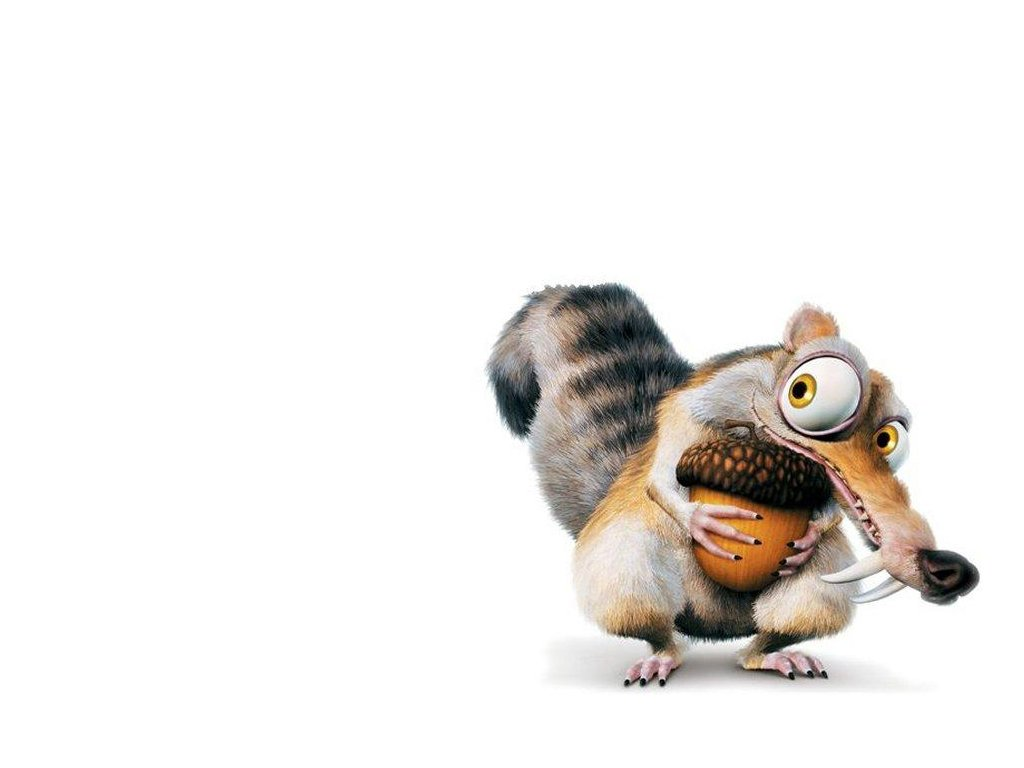 Scrat With His Nut