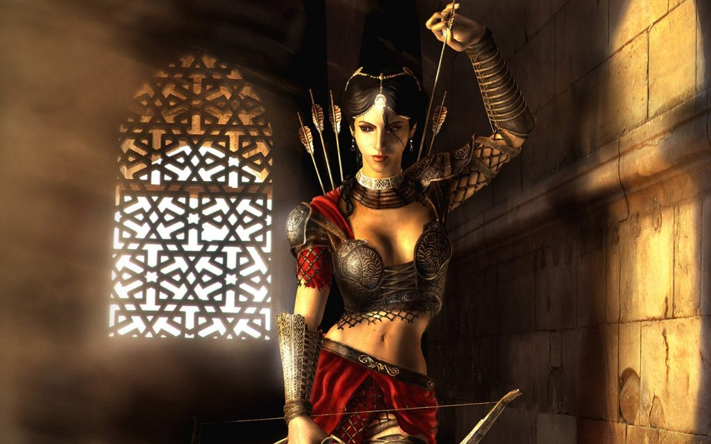 Woman With Bow And Arrows